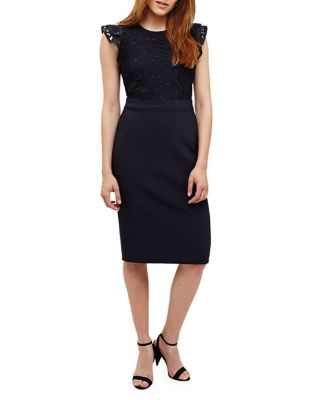 Phase Eight Peggy Lace Dress Navy VoHrLN