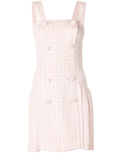 Versace Vintage Checked Dress Pink And Purple S0Vf1zp
