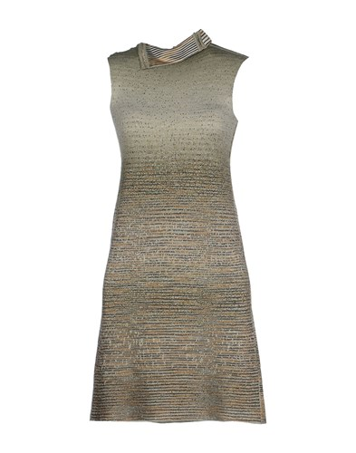 Missoni Short Dresses Military Green u39NKzr