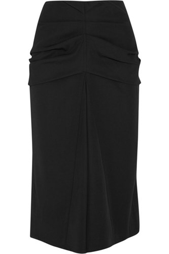 Real Online Gathered Wool And Cotton-blend Twill Midi Skirt - Black Christophe Lemaire Discount For Sale Buy Cheap Amazon Sale Perfect QpF9j8