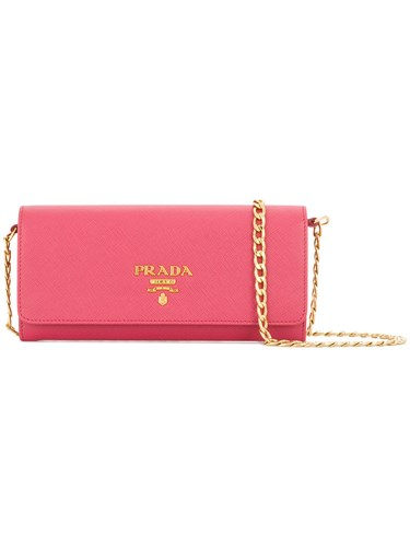 Prada Mini Saffiano Wallet Bag Calf Leather Pink Purple z7xPjYP9