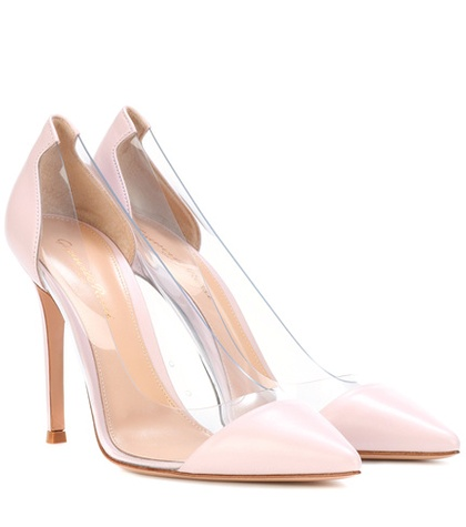 Gianvito Rossi Plexi Leather Pumps Pink hs3stuqgY