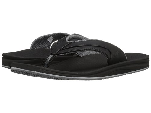 New Balance Purealign Recharge Thong Black Grey Men's Sandals 5S2KRN1Z0