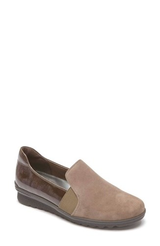 Rockport Women's Chenole Loafer Olive Grey Suede tCWl8zCi1