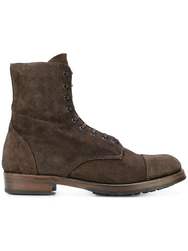 Officine Creative Lowry Boots Calf Leather Calf Suede Rubber Brown MFgHho