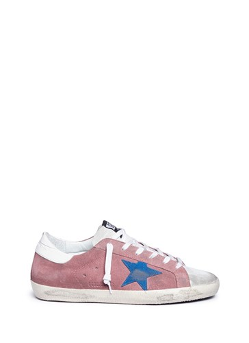 Golden Goose 'Superstar' Brushed Suede Sneakers Pink SZuqQ