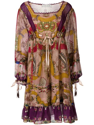 Etro Flared Printed Dress Multicolour c6gybcere