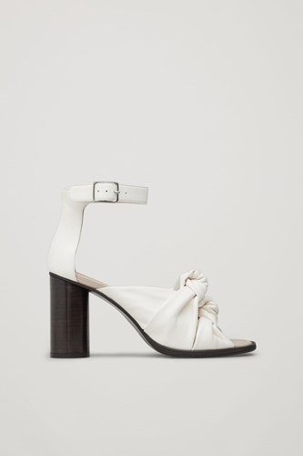 Leather White Front Knot Sandals COS nSROqH6wgx