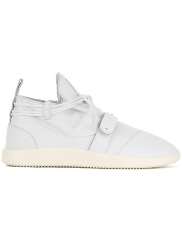 Giuseppe Zanotti Design Wraparound Lace Up Sneakers White BXWY3tt