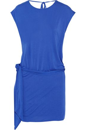 Jersey Mini Haute Draped Modal Hippie Blue Dress SFqWIWtzZ4