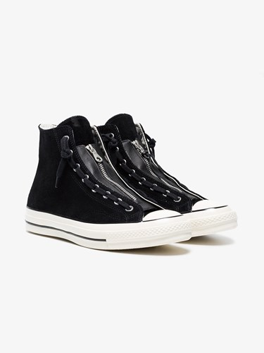 Converse Chuck Taylor All Star 70 Suede Zip Sneakers Black cGM48GXL18