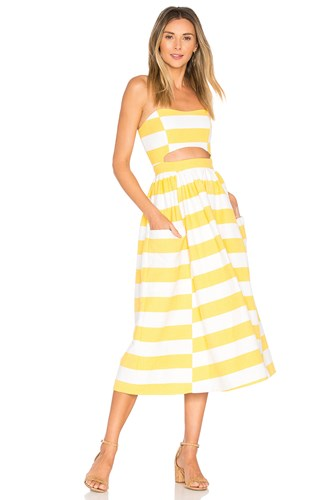 Mara Hoffman Cut Out Midi Dress Yellow Mubxj