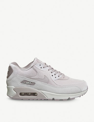 Nike Air Max 90 Velvet And Suede Trainers Particle Rose Velvet TyDecoz