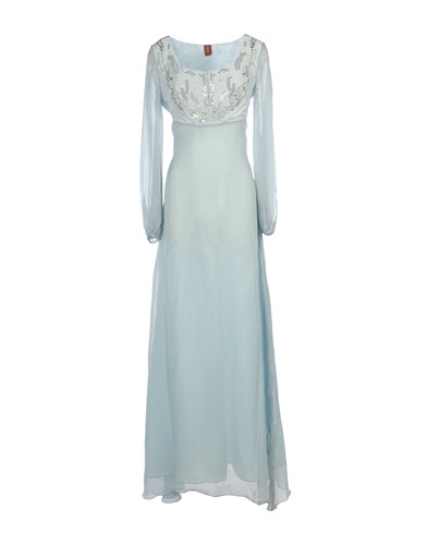 Long Sky Blue Dondup Dondup Long Dresses Dresses Sky qFn4I