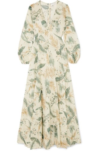 Cotton Exclusive Zimmermann Voile Printed Gray Dress Maxi Green xEwPz6wp7q