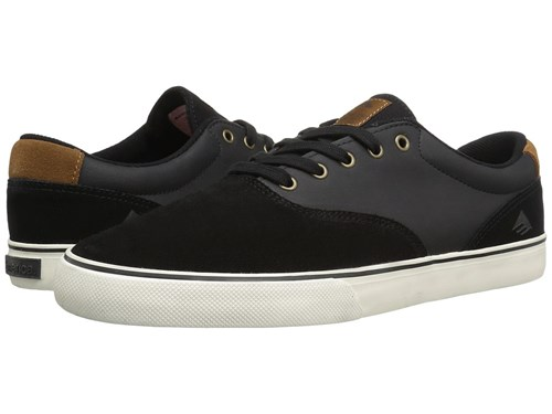 Emerica The Provost Slim Vulc Black Brown Skate Shoes l8J0nfPIrT