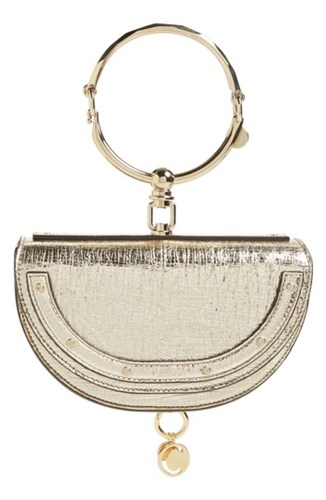 Chloé Small Nile Bracelet Calfskin Leather Minaudiere White Nr308 Off White ZMuSluEHd