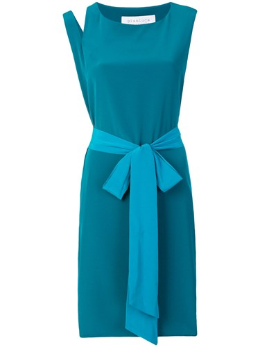 Gianluca Capannolo Shift Round Neck Dress Blue jF1CD