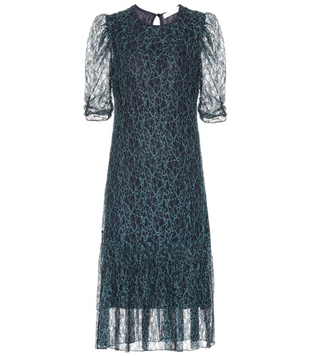 See by Chloe Embroidered Lace Dress Blue ftQGC2C8