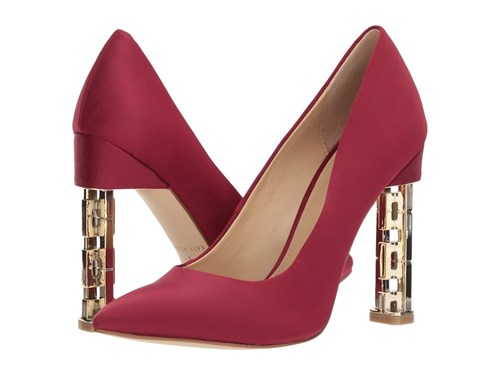 Katy Perry The Suzanne Mulberry Satin Shoes Red Hiyph0Q5