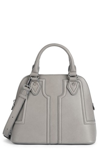 Sole Society Structured Faux Leather Dome Satchel Grey eDsofWXg1C