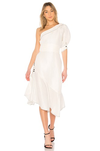 Aje Amatae Dress White 3cS0Cw2w