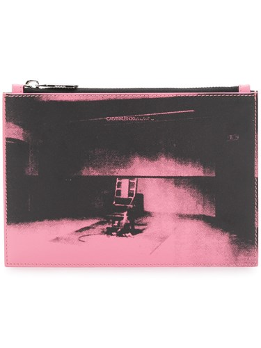 Calvin Klein 205W39nyc Graphic Printed Clutch Pink And Purple wCgatn1