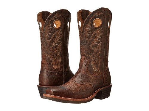 Ariat Heritage Roughstock Brown Oiled Rowdy Cowboy Boots 2nUDuv