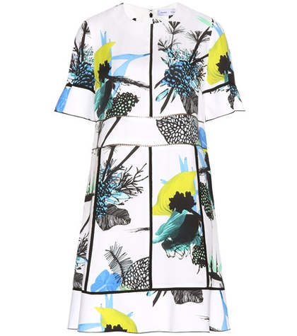Proenza Schouler Multicoloured Printed Crepe Dress S0aq8B