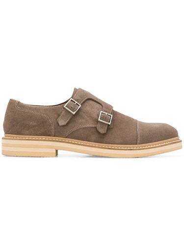 Eleventy Buckle Loafers Brown mgR4JCN3X