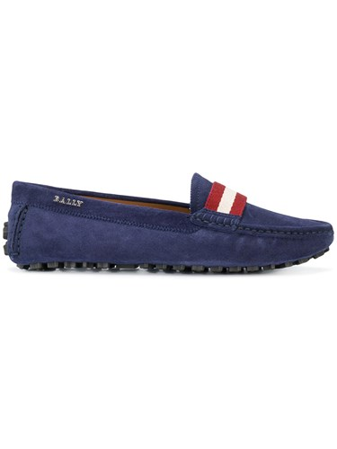 Bally Ladyes Loafers Calf Leather Calf Suede Rubber Blue cwzbxLXS