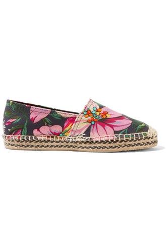 Isabel Marant Canaee Printed Canvas Espadrilles Pink Gbp L3gKhg7q