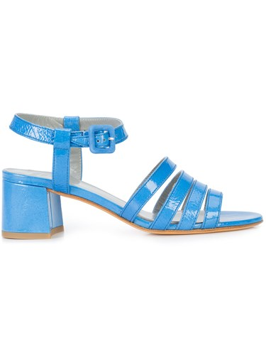 Maryam Nassir Zadeh Strappy Block Heel Sandals Blue 5adRnN