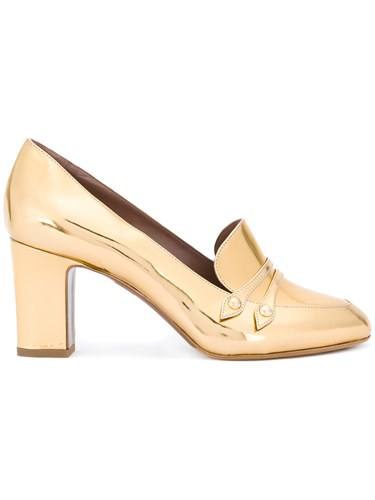 Tabitha Simmons Maxwell Pumps Women Leather 37 Metallic gFtGE