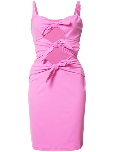 Moschino Cut Out Fitted Beach Dress Pink Purple 5nnWY8