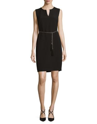 Karl Lagerfeld Chain Sheath Dress Black Rbrg5r