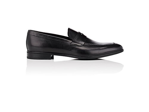 Prada Men's Leather Penny Loafers Black rHbGTVlUrq