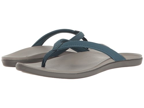 OluKai Ho'opio Stormy Blue Cooler Grey Sandals D6bmkG