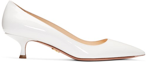 Prada White Patent Pointy Pumps Q12xaIL