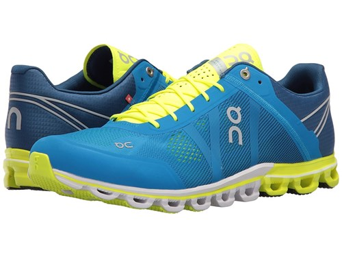 On Cloudflow Malibu Neon Shoes Blue DPWwB00nxo