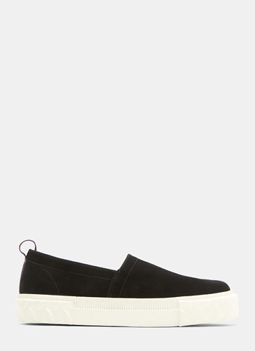 Eytys Viper Slip On Suede Sneakers Black BEFUB