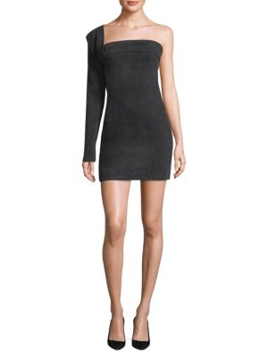 Hudson Baja East Contour One Shoulder Mini Dress Disarm Sdk0mQp