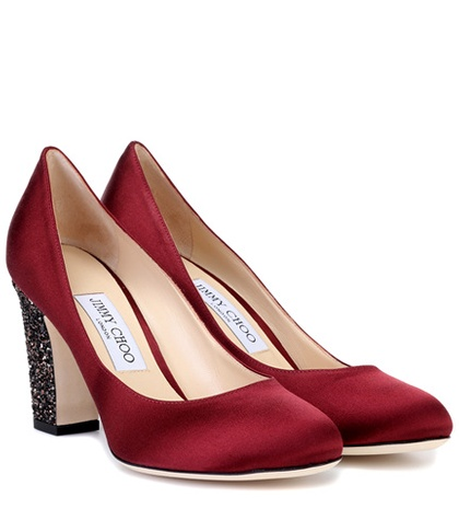 Jimmy Choo Billie 85 Satin Pumps Red RkaMWUSPY