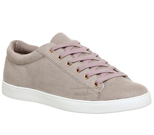 Office Penelope Lace Up Trainers Taupe pg4OsalLp