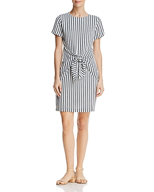 Dylan Gray Striped Tie Front Dress Black Multi G5jFl