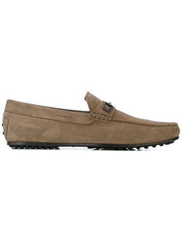 Tod's Classic Loafers Men Leather Suede Rubber 8 Nude Neutrals 5I9ixJGRCP