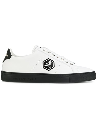 Philipp Plein Skull Aside Sneakers Calf Leather Leather Rubber White M6WzOO