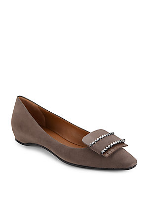 Aquatalia by Marvin K Monica Suede Slip On Flats Oxblood NsRctS