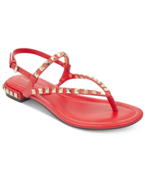 Shoes Flat Women's Sandals Studded Red Fisher Marc Pamali Wwn7xFBFPc