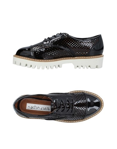 67 SIXTYSEVEN Lace Up Shoes Black O4hUthNR